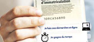 Demande de certificat d'immatriculation – carte grise